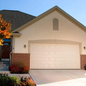 2480 Solid Almond Garage Door