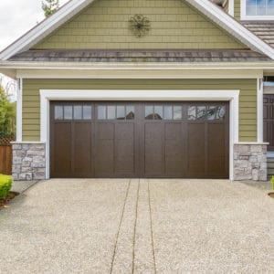 921 4p American Walnut Garage Door