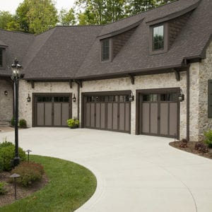 921 3p Bronze/Brown Garage Doors
