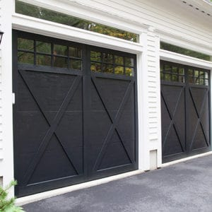 940 8p Black Garage Doors