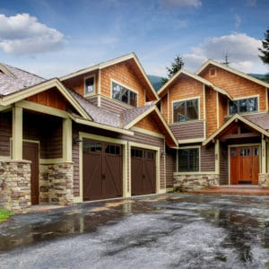 942 4p Brown Garage Doors