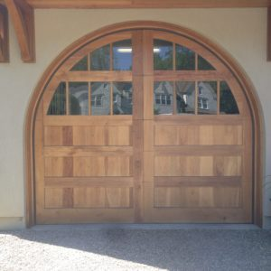 Round Carriage House Door